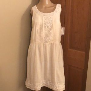 NWT OLD NAVY CREAM LACE SHEER SUNDRESS